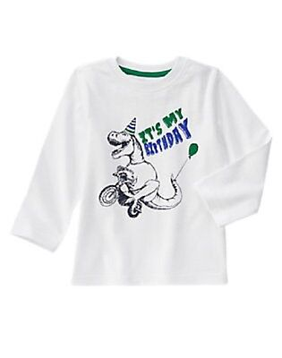Gymboree Baby Boy 12 18 Months Dinosaur Dino Birthday Shirt Top Long Sleeves O 1299
