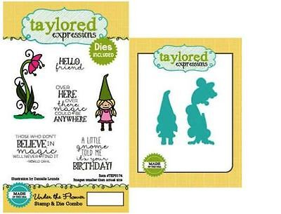 Taylored Expressions Rubber Cling Stamp(6)& Die(2) Set UNDER THE FLOWER ~TEPS174 • 18.89$
