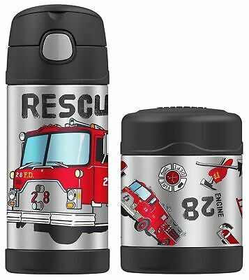 AU45.95 • Buy NEW Thermos Funtainer Boys Insulated Food Container + Drink Bottle Firetruck
