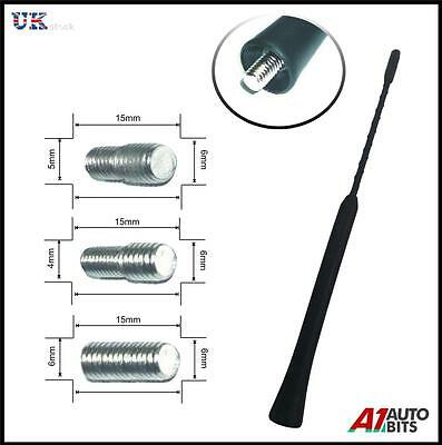 UNIVERSAL BLACK BEE STING SHORT STUBBY AM//FM CAR AERIAL MAST ANTENNA ARIAL  VOW2