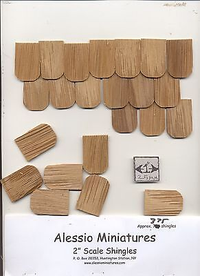 $16.45 • Buy Fashion Dollhouse Fishscale Roofing Shingles 378pcs. Cedar #42A 1/8 Scale USA