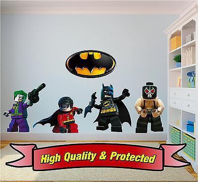 Lego Batman & Robin Set - Joker Bane Logo Vinyl Wall Sticker Decal Bedroom Boys • 7.99£