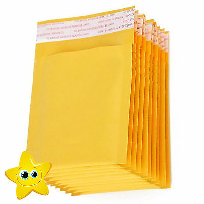 £7.46 • Buy 100 Small Gold Padded, Bubble Lined Envelopes MAIL Cheap Brown Yellow