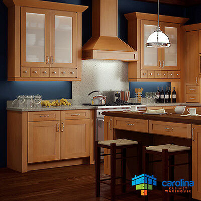 $1799 • Buy Wood Kitchen Cabinets, Gold Shaker Cabinets 10X10 RTA Cabinets FREE SHIPPING!