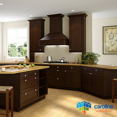 $1912.22 • Buy All Solid Wood Kitchen Cabinets, Brown Shaker Style Cabinets 10X10 RTA Cabinets