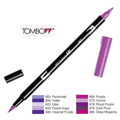 AU5.94 • Buy Tombow Dual Brush Pen  ABT 603 To 685  Violet Shade