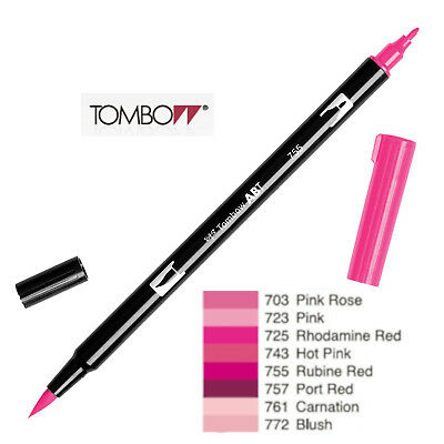 AU5.94 • Buy Tombow Dual Brush Pen  ABT 703 To 772  Red Violet Shade