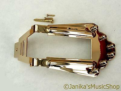 $30.25 • Buy Gold Tailpiece Tail Piece + Studs Fits Selmer Maccaferri Acoustic/jazz Guitar