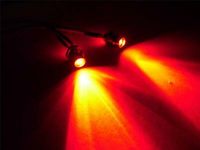 $7.43 • Buy 3mm-5mm Red RC LEDs Brake/tail Lights W/ Holders RX Plug & Play Truck Car Buggy