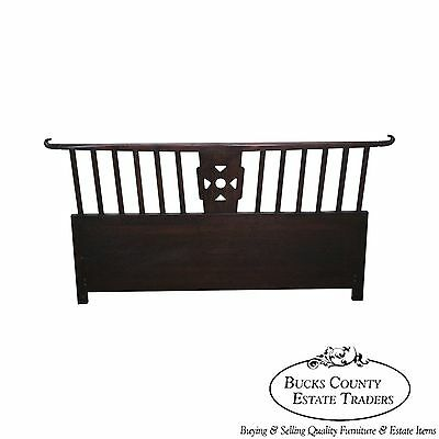 $1295 • Buy Tommi Parzinger Asian Style Modern Mahogany Queen Size Headboard