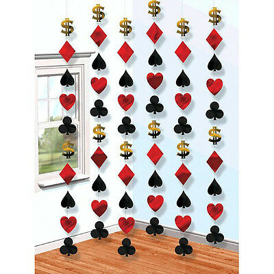 $7.99 • Buy Casino Party String Decorations ~ Birthday Party Favor Supplies ~ Total 42 Feet