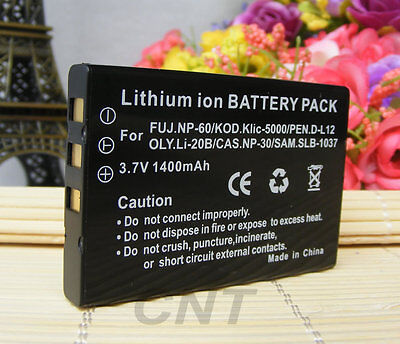£5.63 • Buy Digital Camera Battery For TOSHIBA CAMILEO S10 H20 P10 P30 H10 NP-60 PDR-BT3