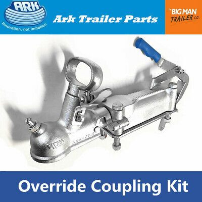 AU127.50 • Buy ARK Trailer Coupling Hitch Override Galvanised Mechanical With Bracket Bolts 2t