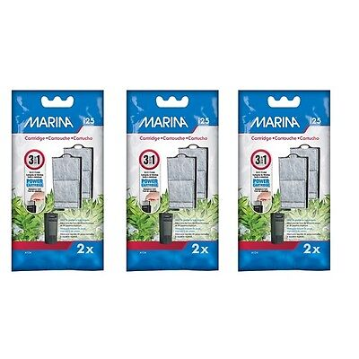 Marina I25 Power Filter Cartridge To Fit I25 Internal Filter Three Packs Of Two. • 10.99£