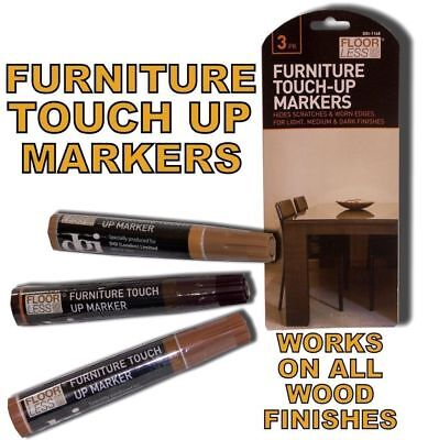 3 Furniture Touch Up Pen Marker Marks Scratches Laminate Wood Floor Repair • 2.99£