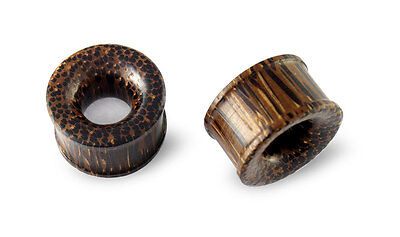$15.85 • Buy Pair Palm Wood Tunnels Gauges