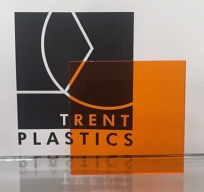 £1.99 • Buy Amber Orange Tinted Perspex Acrylic Plastic Sheet Cut To Size Tint Cast Coloured
