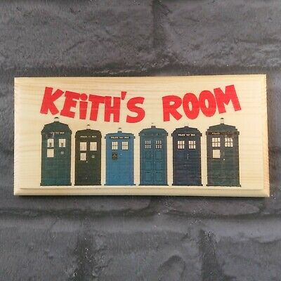 Personalised Doctor Who Sign, Dr Who Bedroom Door Plaque Gift Playhouse Room • 9.95£