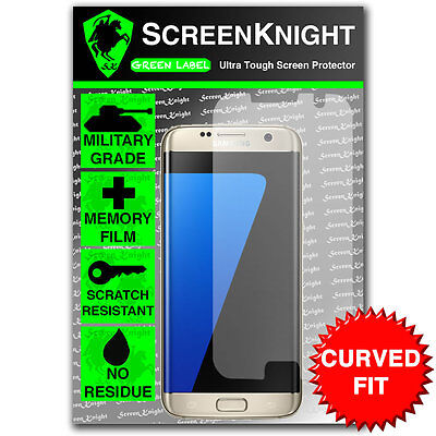 $ CDN6.80 • Buy ScreenKnight Samsung Galaxy S7 Edge SCREEN PROTECTOR Invisible Shield CURVED FIT