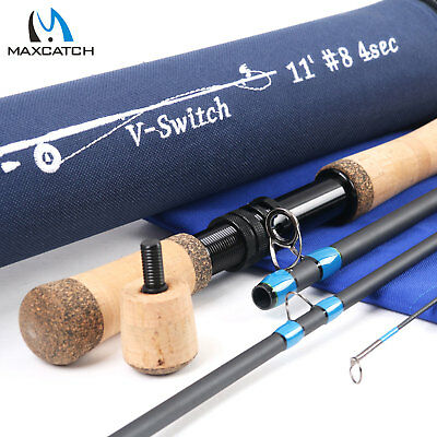 $86 • Buy Maxcatch Switch Rod 4/5/6/7/8/9WT Fly Fishing Rod With Switchable Fighting Butt