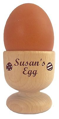 £10.95 • Buy Personalised Wooden Dippy Egg Cup Easter Birthday Christmas Mothers/fathers Day