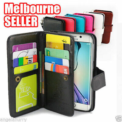 AU9.93 • Buy Ultra Wallet Leather Phone Case Cover For Samsung Galaxy S7 S7 Edge S8 S8 Plus