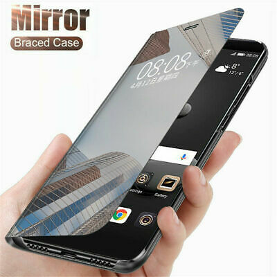 $ CDN5.94 • Buy Smart Leather Flip Clear View Mirror Case Cover For IPhone 12 11 Pro Max Samsung