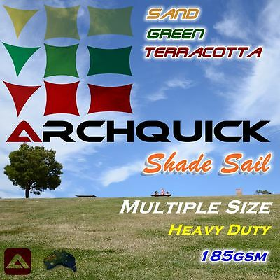 AU79.50 • Buy Heavy Duty Shade Sail Sand Green Terracotta/Red Color Triangle Square Rectangle
