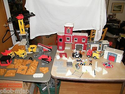 Fisher Price Imaginext Rescue Center Fire & Police Station W/ Construction Set • 94.34£