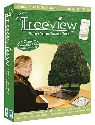 TreeView 2 Family History Genealogy Software - Premium Edition • 39.95£