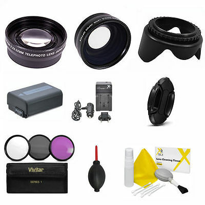 $ CDN113.49 • Buy Wide Angle Lens +  Zoom Lens + Np-fw50 + Accessories Kit  For Sony Alpha A6000