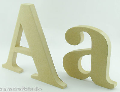 £2.26 • Buy 15 Cm FREESTANDING Wooden Letters MDF- Hand Made ,Names,Signs-Georgia
