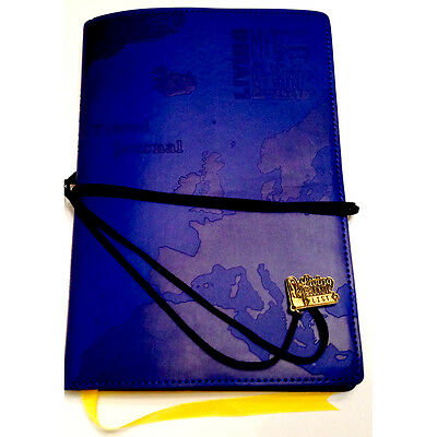 £10.99 • Buy TRAVEL JOURNAL Blue Embossed Map Bucket List Holiday Travellers Notepad Book