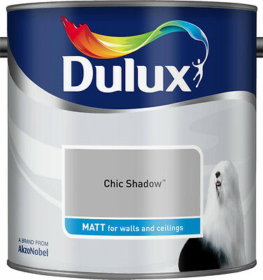 Dulux Smooth Creamy Matt Emulsion Paint - Chic Shadow  2.5 L -Walls And Ceiling  • 22.95£