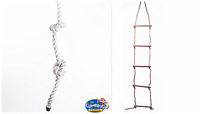 £17.07 • Buy Knotted Rope Or 5 Rung Rope Ladder: Thick, Safe, Climb, Climbing Frame, Play Fun