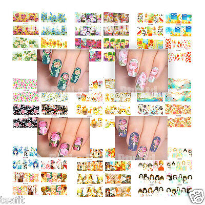 AU2.95 • Buy Nail Art Stickers Water Decals Transfers Wraps Porcelain Bohemian Manicure Tips