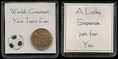 Football Lucky Sixpence Gift - 25 Teams To Choose From, Or Personalise Your Team • 2.25£