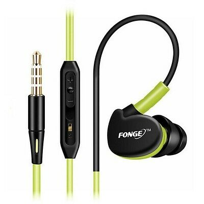 £4.99 • Buy Over Ear Clip Headphone Hook Sports Gym Jogging Running Earphones With Mic Green