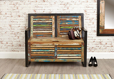 Baumhaus Urban Chic Funky Monks Bench With Storage - Reclaimed Wood • 459£