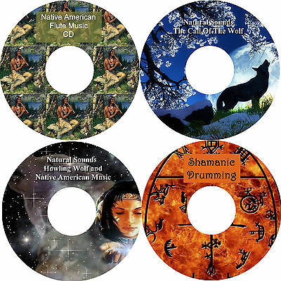 Shamanic Drumming & Native American Music & Natural Sounds Wolf Wolves On 4 CDs • 3.99£