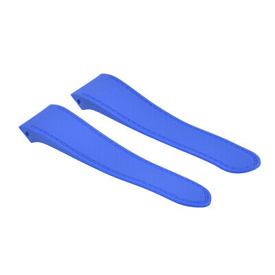 £25.32 • Buy 24.5mm Rubber Watch Band Strap For Cartier Santos 100xl 2740 Chronograph Blue
