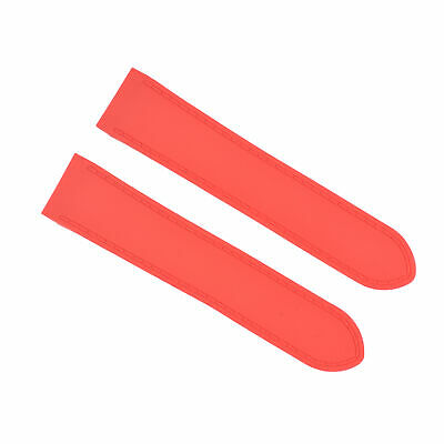 £25.32 • Buy 24.5mm Rubber Watch Band Strap For (fits) Cartier Santos 100xl Chronograph Red