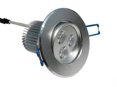 AU15 • Buy 9w 3x3w LED Silver Downlight Ceiling Light Recessed Lamp Pure White New