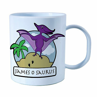 Personalised Pterodactyl Plastic Mug Children's Birthday Gift Juice Cup Any Name • 10.99£