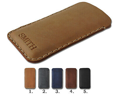 $ CDN65.69 • Buy Sony Xperia Cow Waxed Leather Cover Case PERSONALIZED Sleeve Pouch Hand Sewn