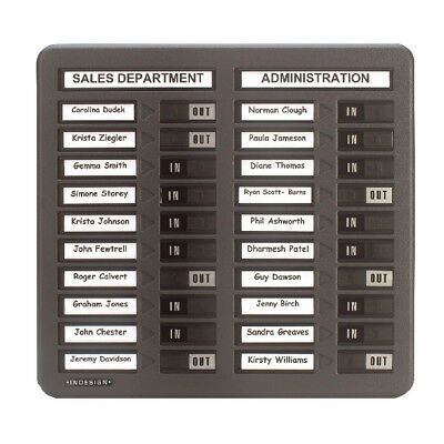 Indesign In/Out Board 20 Names Grey WPIT20I • 76.49£