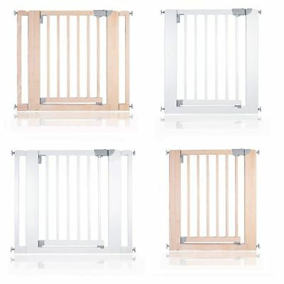 Safetots Chunky Wooden Pressure Fit Stair Gate 74 -97cm Safety Baby Barrier • 49.90£