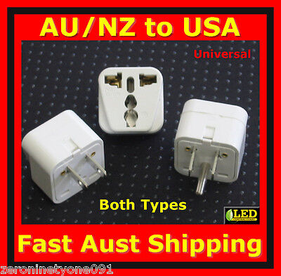 AU14.69 • Buy AUS To US USA TAIWAN Premium Power Plug Travel Adapter Converter (Both Types)