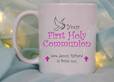 £8.95 • Buy Personalised 1st First Holy Communion Gift Boy Girl Mug Cup Godson Daughter Gift