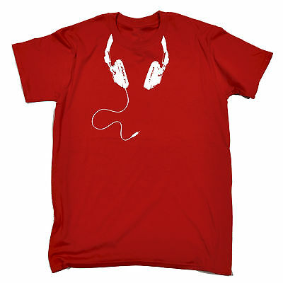 Headphone Cable Around Neck T-SHIRT Dj Disc Jockey Deejay Mc Rave Birthday Gift • 8.97£